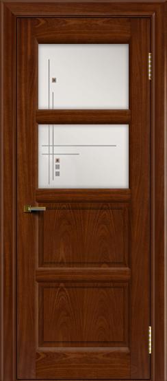 Двери ЛайнДор Классика 2 красное дерево тон 10 стекло Классика 2