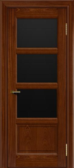 Двери ЛайнДор Классика 2 красное дерево тон 10 стекло черное 3