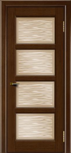 Двери ЛайнДор Классика 2 орех тон 2 стекло Волна бронза