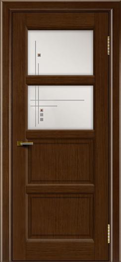 Двери ЛайнДор Классика 2 орех тон 2 стекло Классика 2