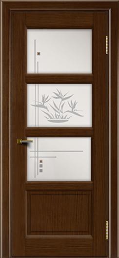 Двери ЛайнДор Классика 2 орех тон 2 стекло Классика 3