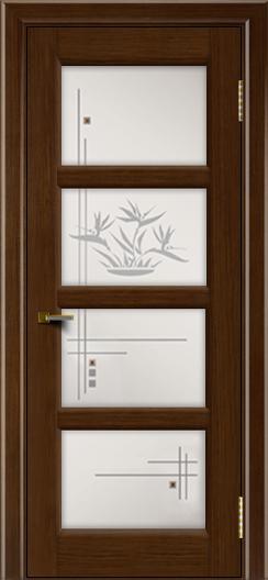 Двери ЛайнДор Классика 2 орех тон 2 стекло Классика 4