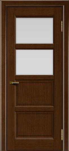 Двери ЛайнДор Классика 2 орех тон 2 стекло белое 2