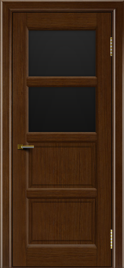 Двери ЛайнДор Классика 2 орех тон 2 стекло черное 2