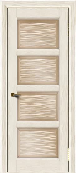 Двери ЛайнДор Классика 2 тон 36 стекло Волна бронза