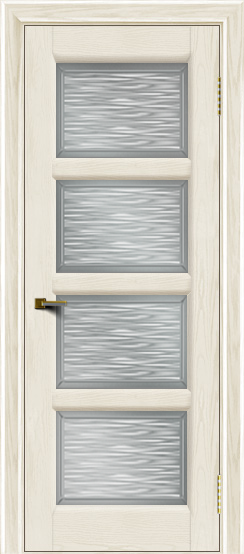 Двери ЛайнДор Классика 2 тон 36 стекло Волна сатин