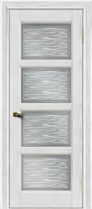 Двери ЛайнДор Классика 2 тон 38 стекло Волна сатин