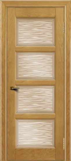 Двери ЛайнДор Классика 2 ясень тон 24 стекло Волна бронза