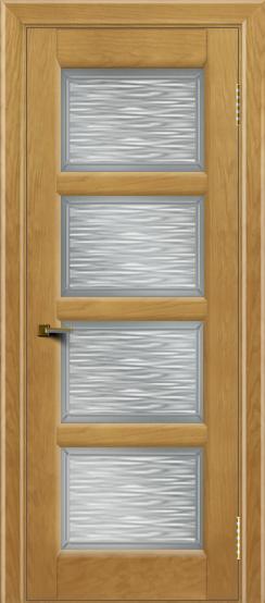 Двери ЛайнДор Классика 2 ясень тон 24 стекло Волна сатин