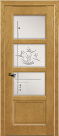 Двери ЛайнДор Классика 2 ясень тон 24 стекло Классика 3