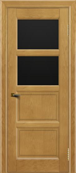 Двери ЛайнДор Классика 2 ясень тон 24 стекло черное 2