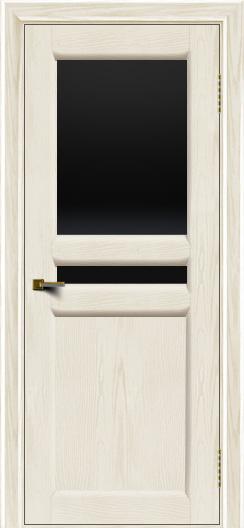 Двери ЛайнДор Кристина 2 тон 36 черное верхнее стекло