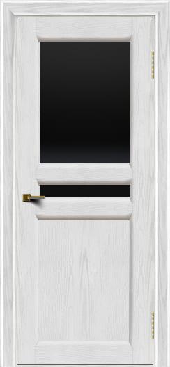 Двери ЛайнДор Кристина 2 тон 38 черное верхнее стекло