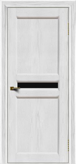 Двери ЛайнДор Кристина 2 тон 38 черное малое стекло