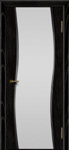 Двери ЛайнДор Лайма черная эмаль тон 26 стекло Белое