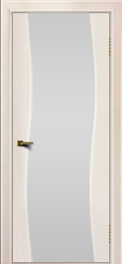 Двери ЛайнДор Лайма ясень жемчуг тон 27 стекло Белое