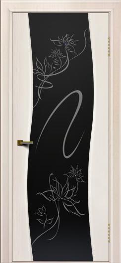Двери ЛайнДор Лайма ясень жемчуг тон 27 стекло Камелия