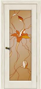 Двери ЛайнДор Мальта 2 тон 36 витраж