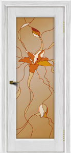 Двери ЛайнДор Мальта 2 тон 38 витраж