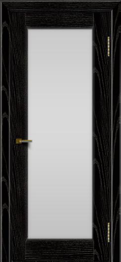 Двери ЛайнДор Мальта 2 черная эмаль тон 26 стекло белое