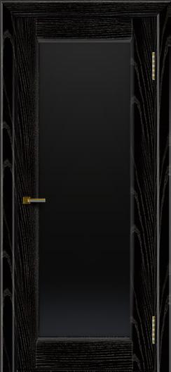 Двери ЛайнДор Мальта 2 черная эмаль тон 26 стекло черное