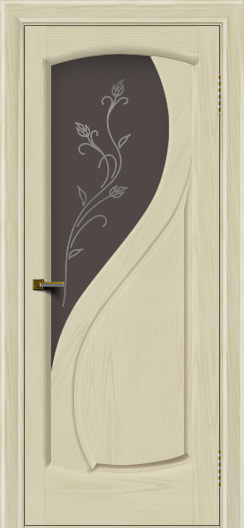 Двери ЛайнДор Новый стиль 2 тон 34 стекло Ирис темное