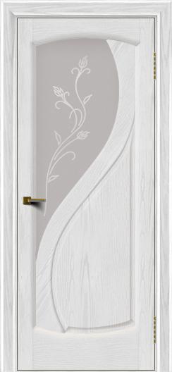 Двери ЛайнДор Новый стиль 2 тон 38 стекло Ирис светлое