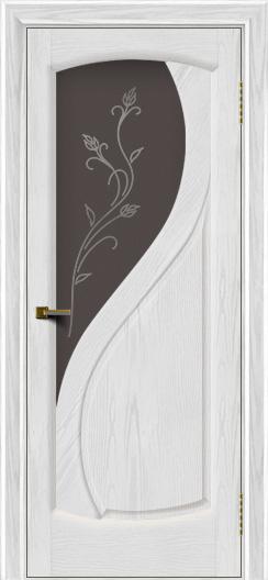Двери ЛайнДор Новый стиль 2 тон 38 стекло Ирис темное