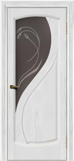 Двери ЛайнДор Новый стиль 2 тон 38 стекло Новый стиль темное