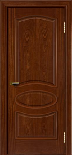 Двери ЛайнДор Оливия красное дерево тон 10 глухая