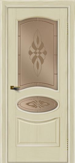Двери ЛайнДор Оливия тон 34 стекло Византия бронза