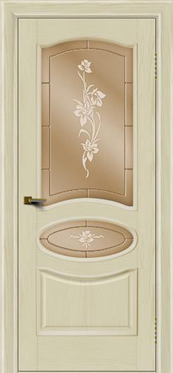 Двери ЛайнДор Оливия тон 34 стекло Рим бронза