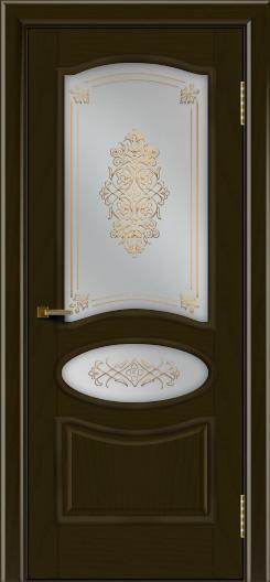 Двери ЛайнДор Оливия тон 35 стекло Дамаск