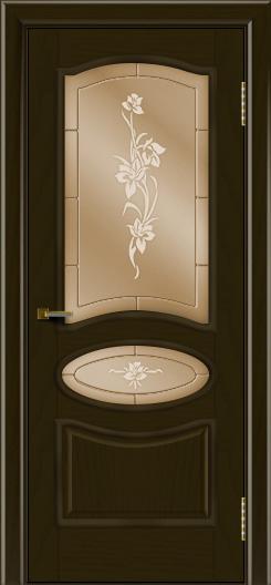 Двери ЛайнДор Оливия тон 35 стекло Рим бронза