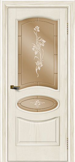 Двери ЛайнДор Оливия тон 36 стекло Рим бронза