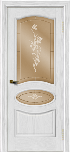 Двери ЛайнДор Оливия тон 38 стекло Рим бронза