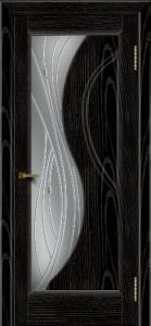 Двери ЛайнДор Прага 2 тон 26 стекло Волна светлое