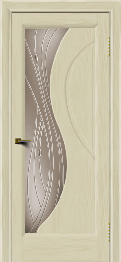 Двери ЛайнДор Прага 2 тон 34 стекло Волна бронза