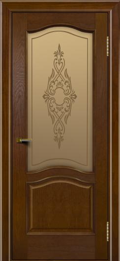 Двери ЛайнДор Пронто тон 30 стекло Айрис бронза