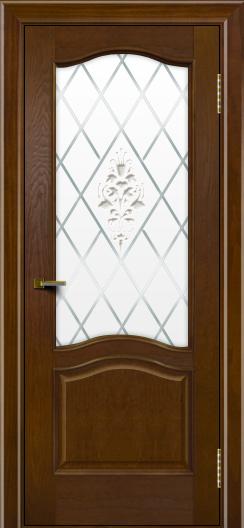 Двери ЛайнДор Пронто тон 30 стекло Лилия