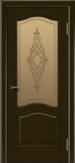 Двери ЛайнДор Пронто тон 35 стекло Айрис бронза