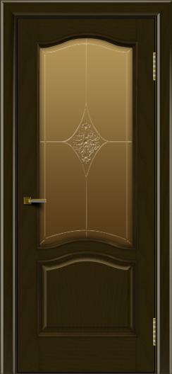 Двери ЛайнДор Пронто тон 35 стекло Амелия бронза