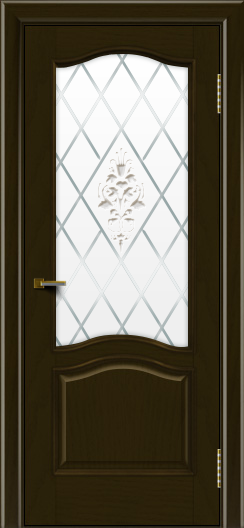 Двери ЛайнДор Пронто тон 35 стекло Лилия