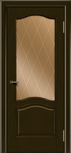 Двери ЛайнДор Пронто тон 35 стекло Лондон бронза