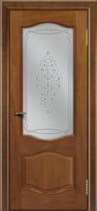 Двери ЛайнДор София американский орех тон 23 стекло Вива
