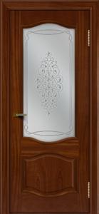 Двери ЛайнДор София красное дерево тон 10 стекло Вива