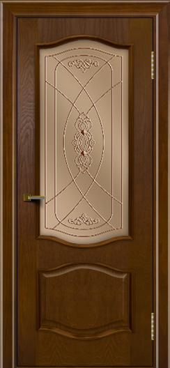 Двери ЛайнДор София тон 30 стекло Фреза бронза