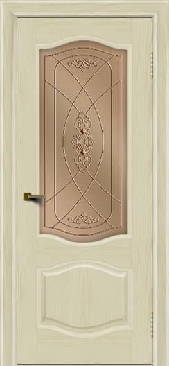 Двери ЛайнДор София тон 34 стекло Фреза бронза