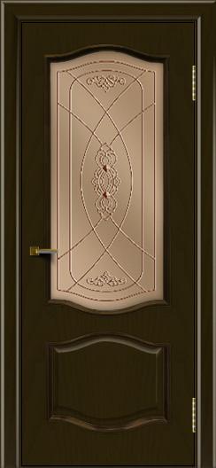 Двери ЛайнДор София тон 35 стекло Фреза бронза