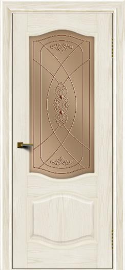Двери ЛайнДор София тон 36 стекло Фреза бронза